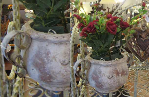 Kunstblumen bert pfe vertiko antik for Antike weihnachtsdeko