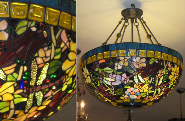 Tiffany deckenlampe vertiko antik for Gartenmobel asiatisch
